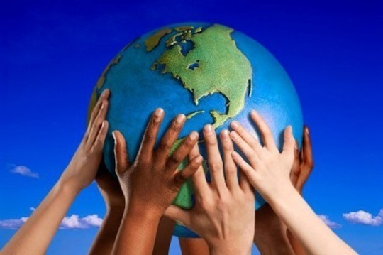 Ajuda mutua para um planeta melhor para se viver sempre